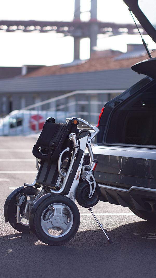 SmartChair prêt à partir pour voayager en voiture