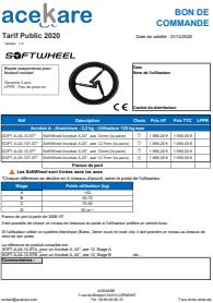 Miniature bon de commande softwheel