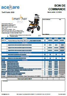 Bon de commande SmartChair EVO